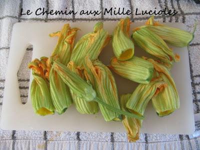 Beignets de fleurs de courgette - fleurs
