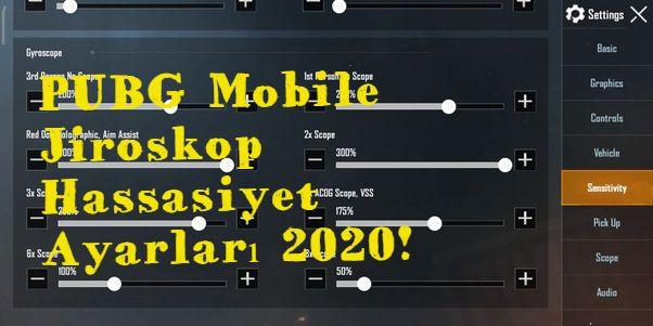 PUBG Mobile en iyi Jiroskop hassasiyeti ayarları 2020!