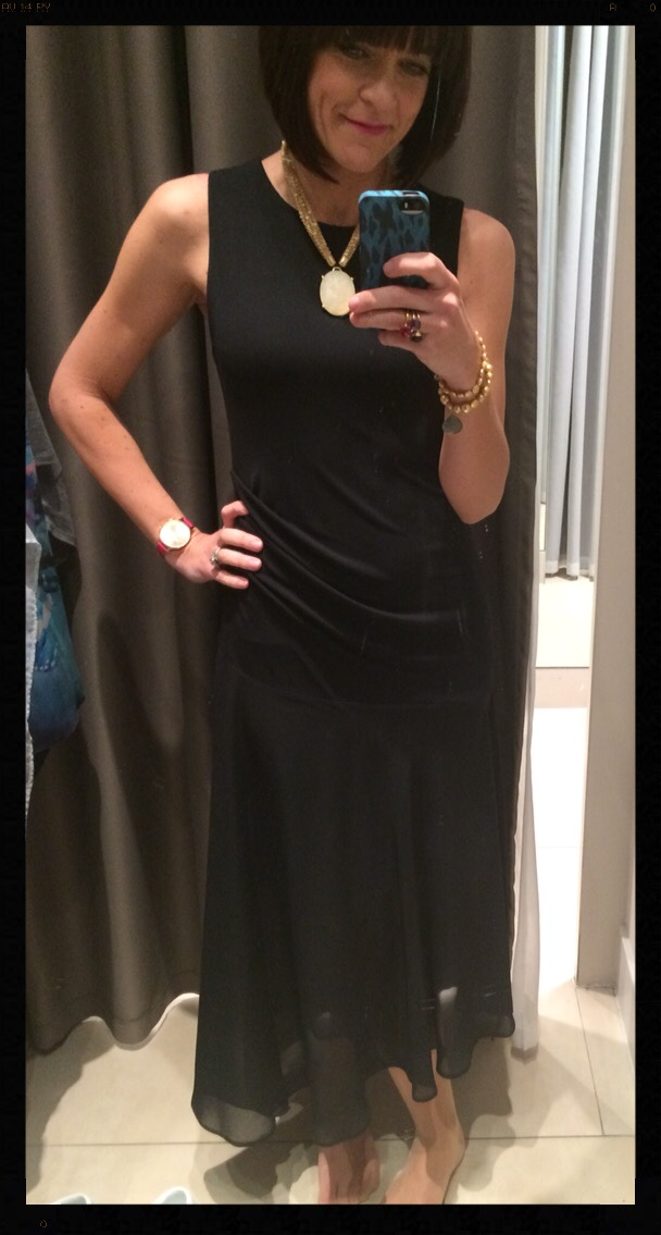 My Midlife Fashion Wallis Black Chiffon Dress W Collection