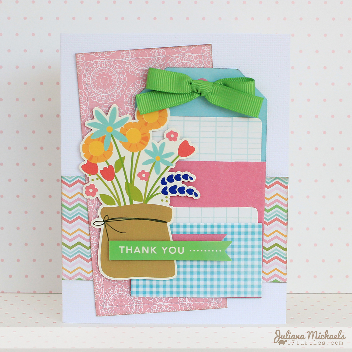 Thank You Card Teacher Gift Juliana Michaels Pebbles Garden Party
