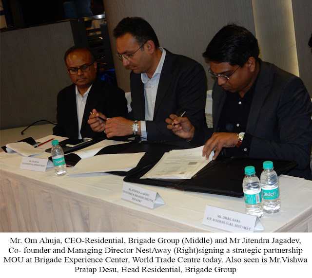 Brigade Group Signs MoU with rental solutions provider NestAway