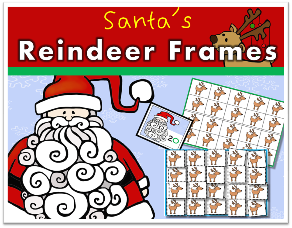 http://www.teacherspayteachers.com/Product/Santas-Reindeer-Frames-Math-Center-Activities-Numbers-1-to-20-1604415