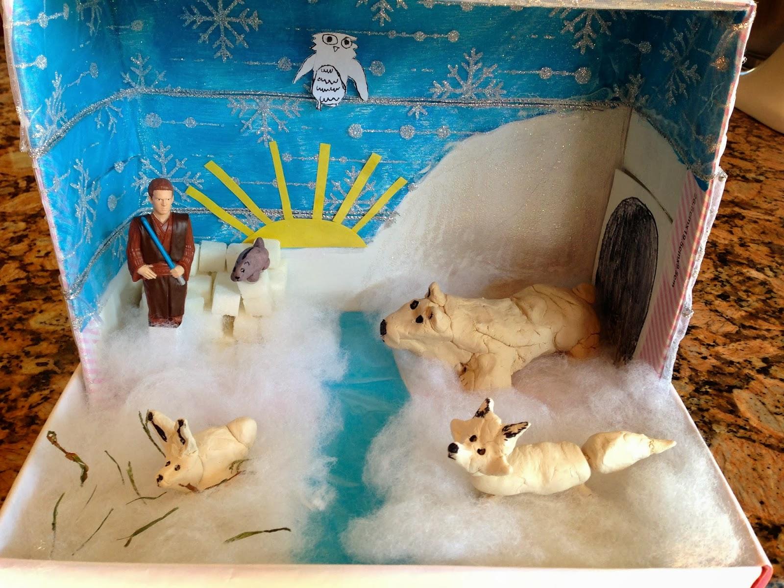 Arctic wolf diorama - photo#11