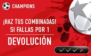 sportium Champions: Combinada 'con seguro' 18-19 septiembre