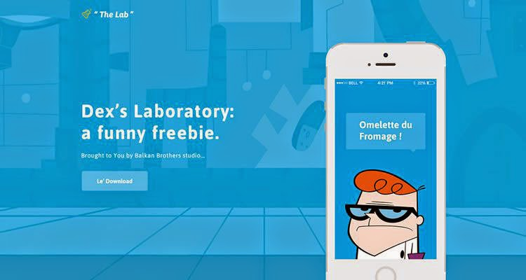 "Dexter's ""The Lab"" Template psd"