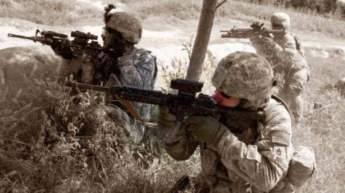 Latihan militer marinir Amerika dan NATO