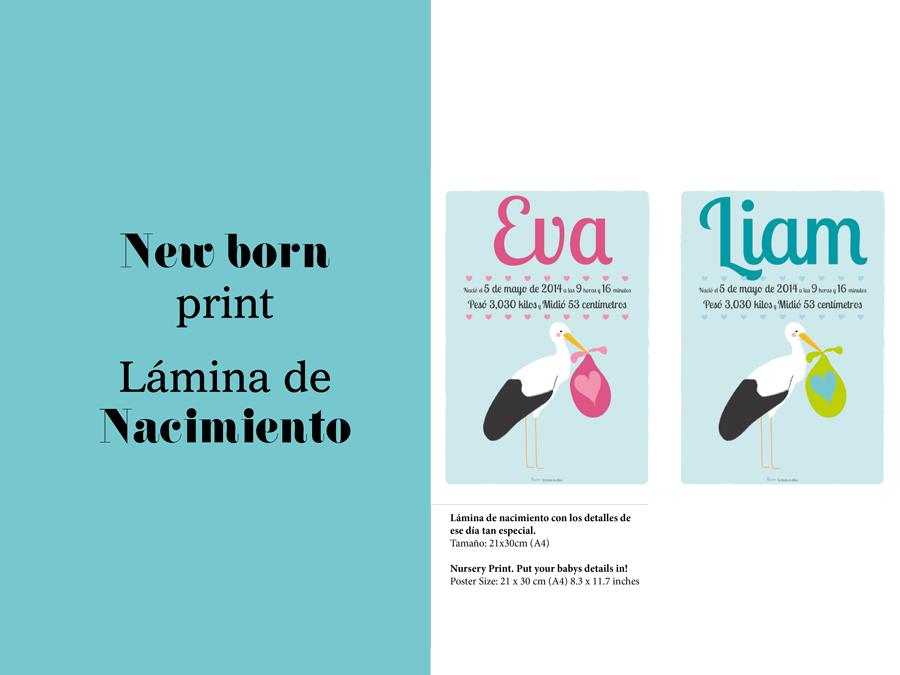 Catálogo de láminas personalizadas para bebés