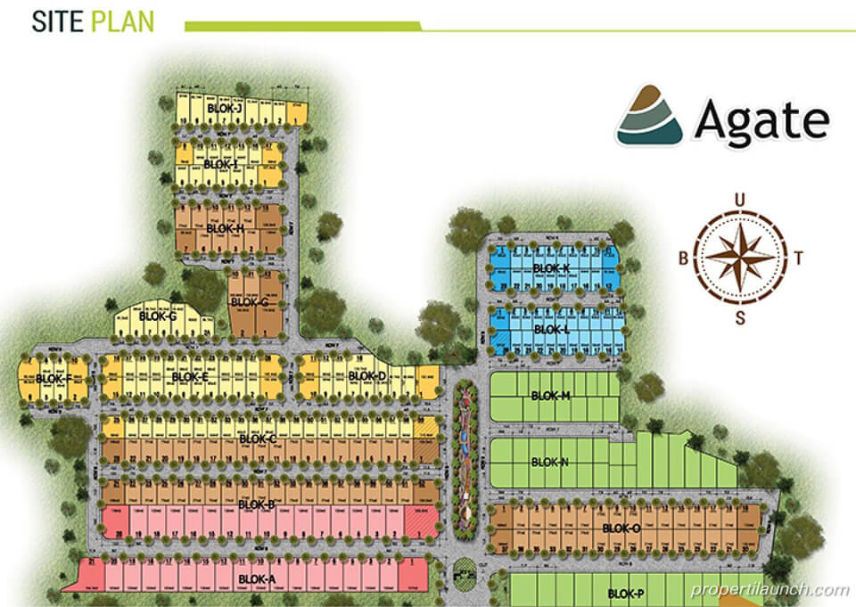 Site Plan Cluster Agate Golden Stone Serpong