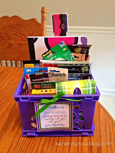 Teacher Survival Kit {Back to School Teacher Gift Idea} at Serenity Now