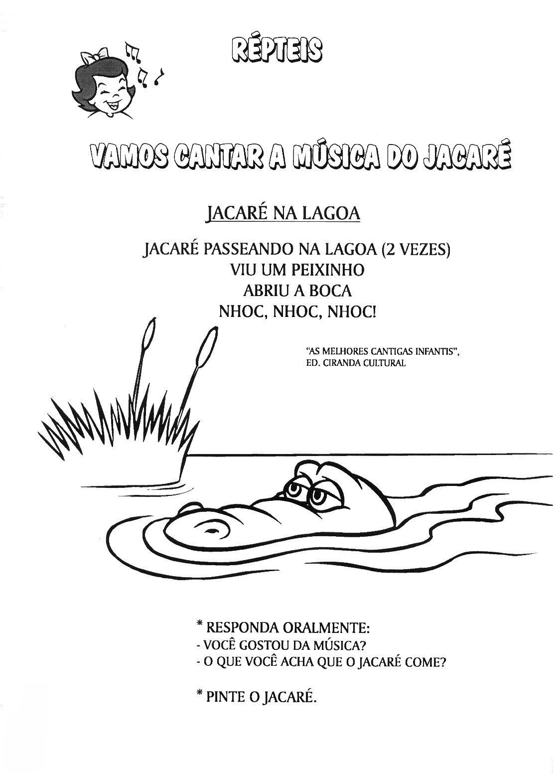 Muito Escola Saber: Letras de musicas educação infantil TA85