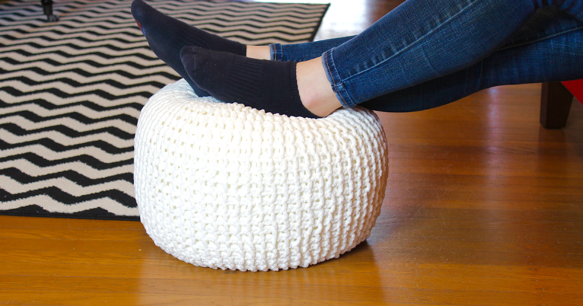 Knitted Floor Pouf - The Surznick Common Room