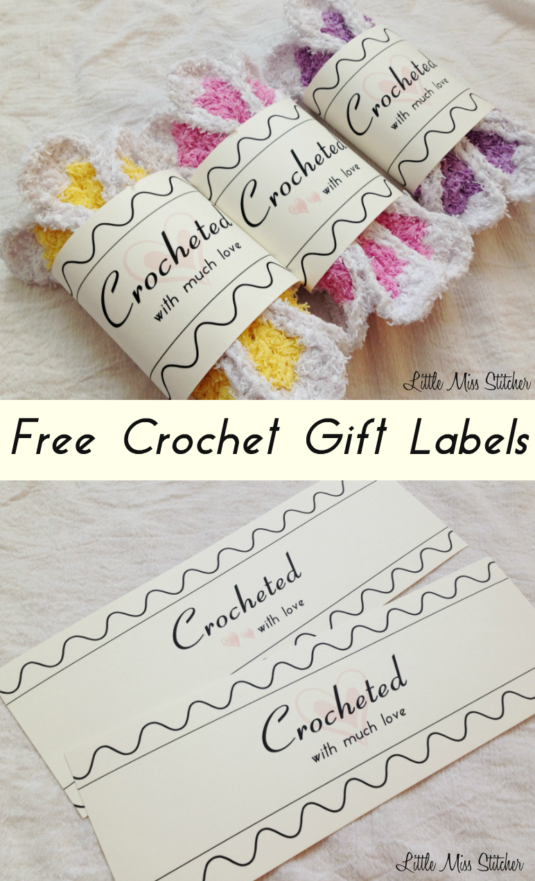 It's just a picture of Printable Crochet Labels regarding memory