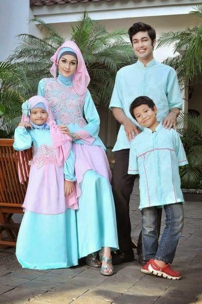 Baju muslim Couple keluarga yang serasi