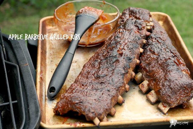 Apple Barbecue Grilled Ribs