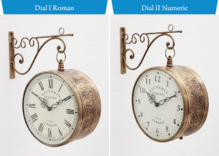 Medieval India Victoria Station Double Side Metal Antique Clock alooflook.com