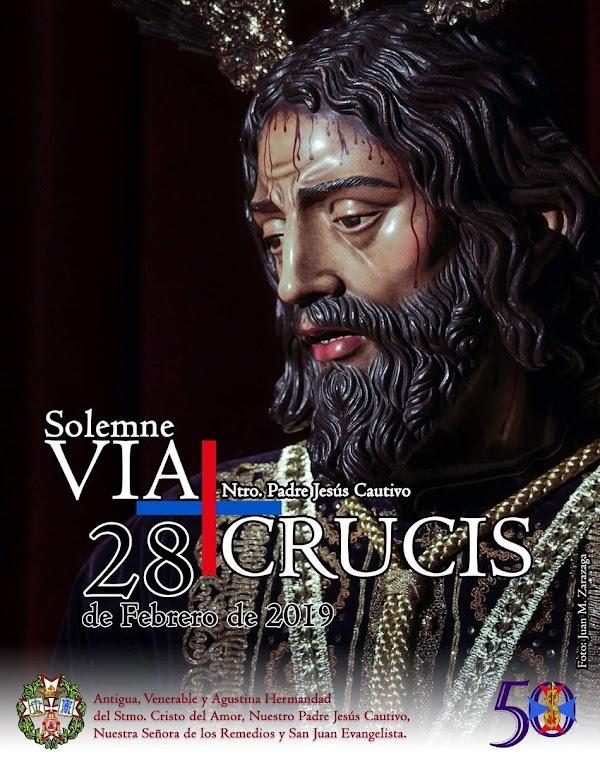 Vía Crucis presidido por la imagen de Nuestro Padre Jesús Cautivo de Jerez de la Frontera