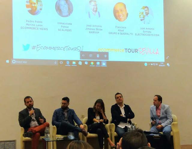Ponentes mesa redonda de casos de éxito en Ecommerce Tour Sevilla