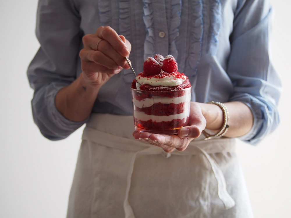 Red Velvet Cake in bicchiere