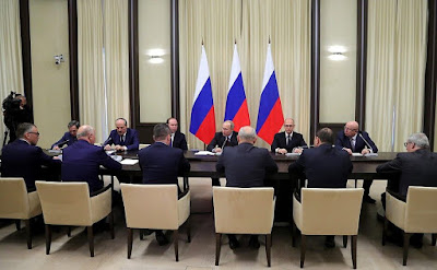 Vladimir Putin held a meeting with former regional leaders in the Kremlin.