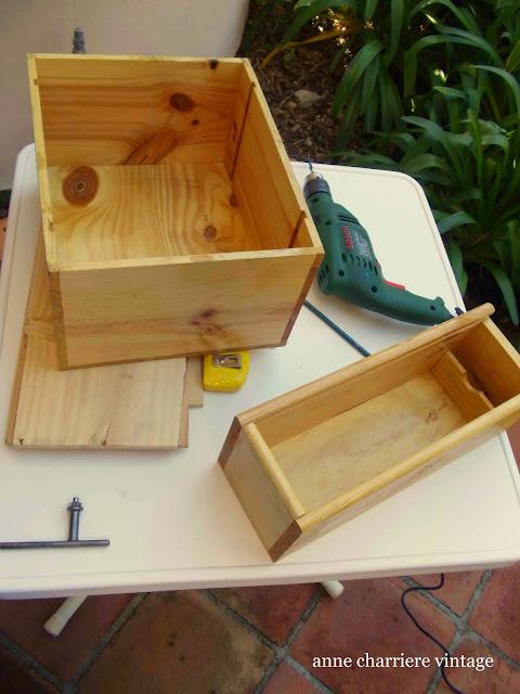 www.annecharriere.com, anne charriere vintage, reutilizar cajas, cajones, reciclar cajas, reciclar cajones,