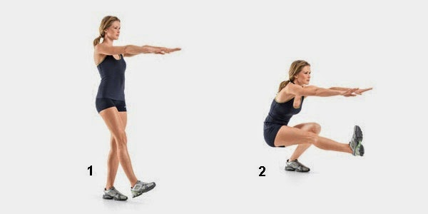Single Leg Squat Exercise for beautiful Toned Butt