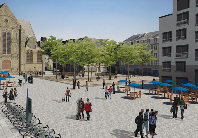 La Place Saint-Germain depuis les quais... en 2021 - Atelier de paysages Bruel-Delmar - 11 octobre 2016