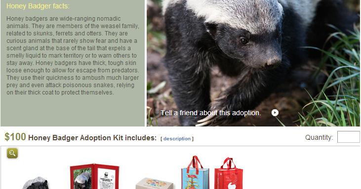 Troutrageous! Fly Fishing & Tenkara Blog: Adopt A Honey Badger For Christmas