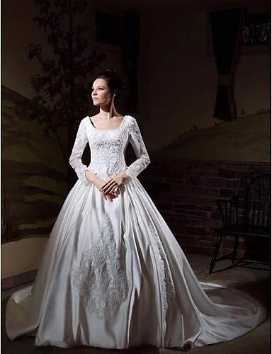 vestidos de novia con manga baratos