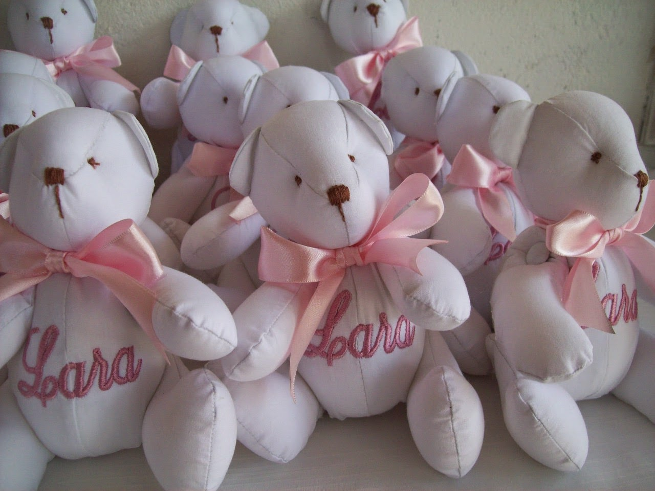 Mini Ursinhos para Lembrancinhas – Personalizados com o nome do bebê