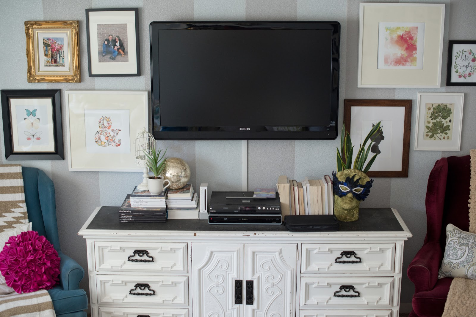 Tv On The Wall Ideas Domestic Fashionista Styling A Modern Gallery Wall
