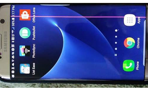 Samsung Galaxy S7 Edge Owners Reports A Vertical Pink Line
