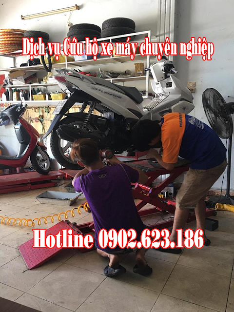 Cứu hộ sửa chữa xe máy Honda Airblade 2016 tận nơi tại TpHCM