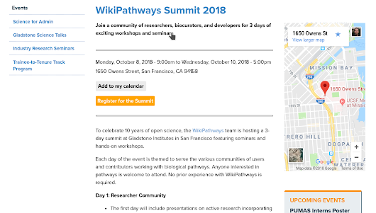 WikiPathways Summit 2018