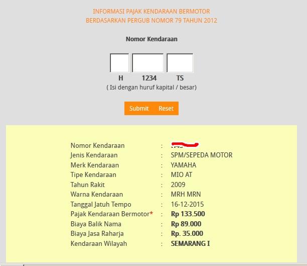 beginilah cara cek pajak kendaraan secara online untuk jawa timur rh orangmajalengka blogspot com cara cek pajak online jakarta cara cek pajak online jatim