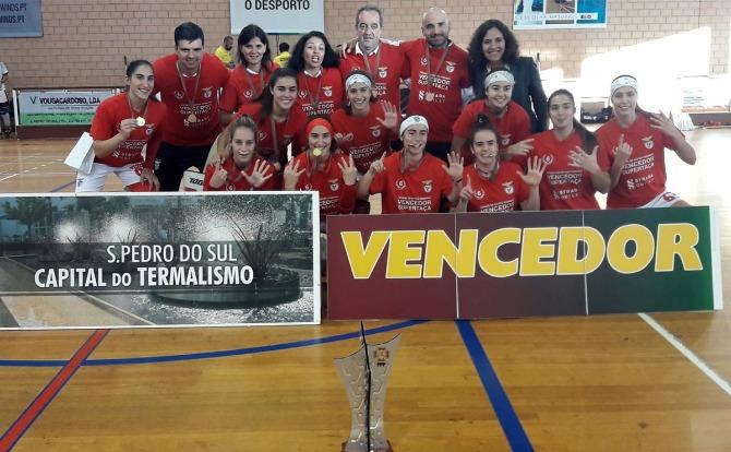 Benfica vencedor da Supertaça de Hóquei em Patins Feminino
