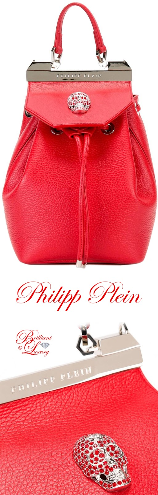 Brilliant Luxury ♦ Philipp Plein Orchid backpack