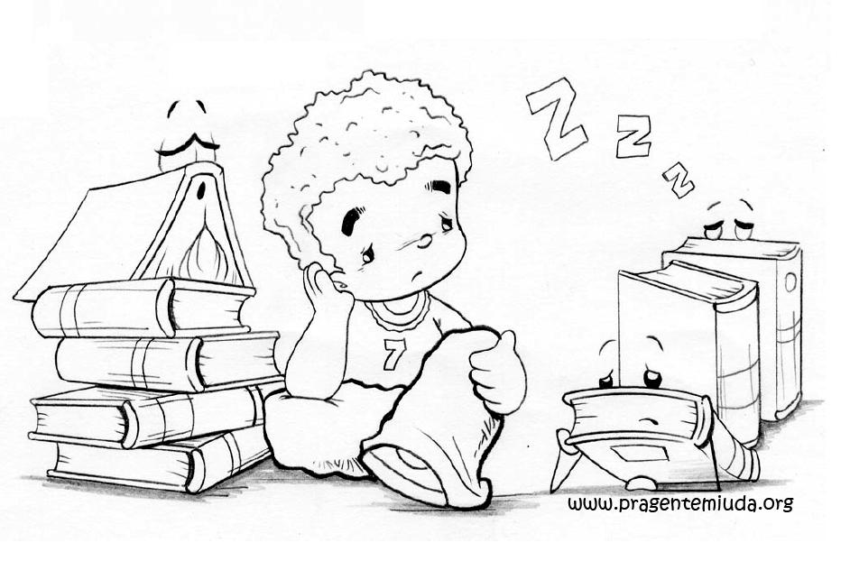 Desenho De Biblioteca Para Colorir