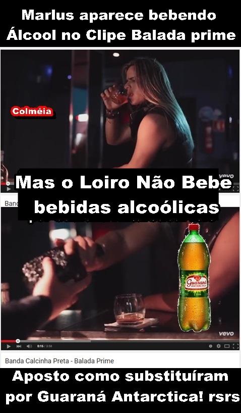 821828547 Marlus disse na entrevista para Faa Moreno no Ritmos Brasil que não bebia!