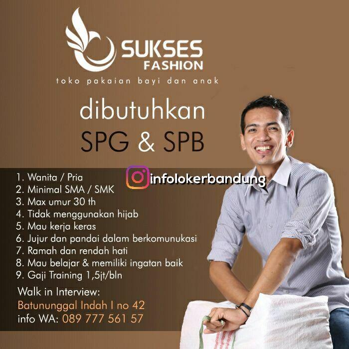 Lowongan Kerja Sukses Fashion Toko Pakaian Bayi Dan Anak Bandung September 2017