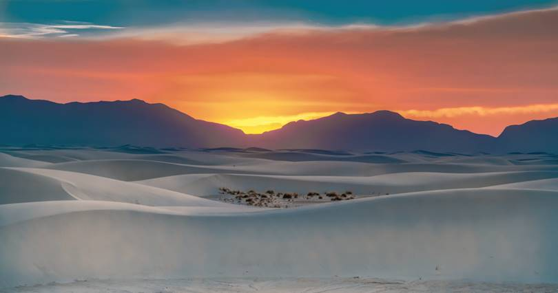 The uniqueness and beauty of the white sand dunes have long been recognized and designated a national monument in 1933.