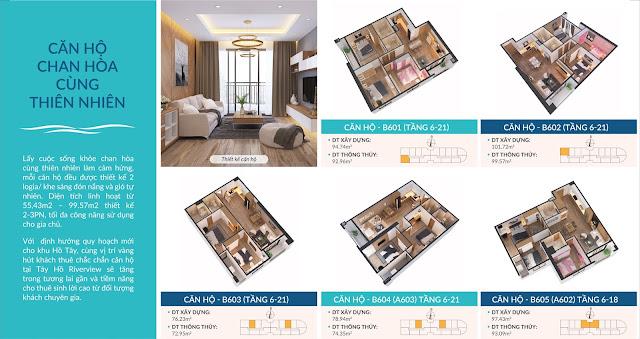 Thiết kế căn hộ tại Tây Hồ River View