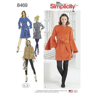 Simplicity8469 Bell Sleeve Coat Pattern