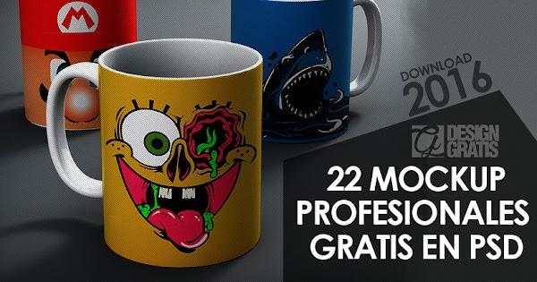22 mockups profesionales en psd gratis