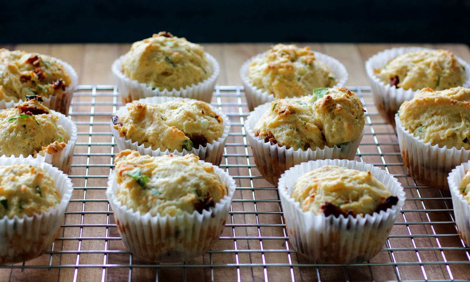Simple Savory Sundried Tomato and Goat Cheese Muffins www.recipeficiton.com