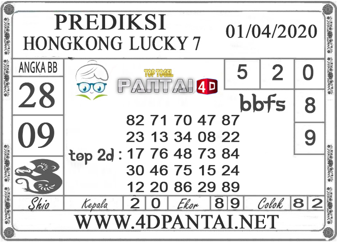 PREDIKSI TOGEL HONGKONG LUCKY 7 PANTAI4D 01 APRIL 2020