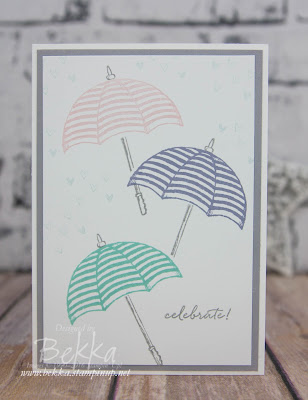 Make In A Moment - Shower of Hearts Celebration Card made using Stampin' Up! UK supplies which you can get here