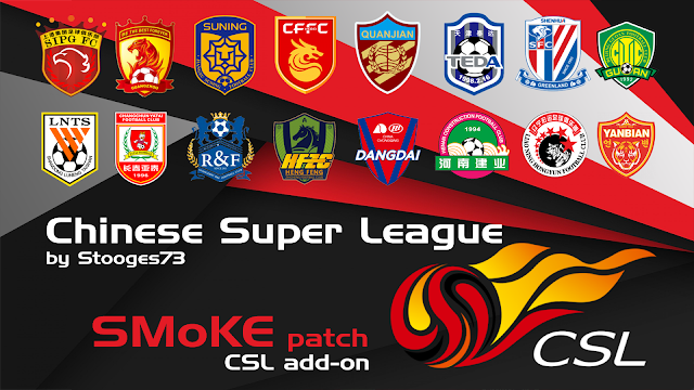 PES 2017 Chinese Super League Addon For Smoke Patch 9.3.2 - Released 28/2/2017