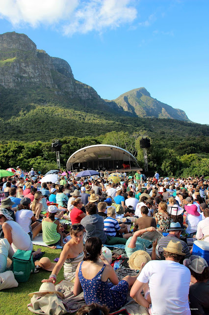 Cape Town, South Africa, Kirstenbosch summer concert series, outdoor, picnic.