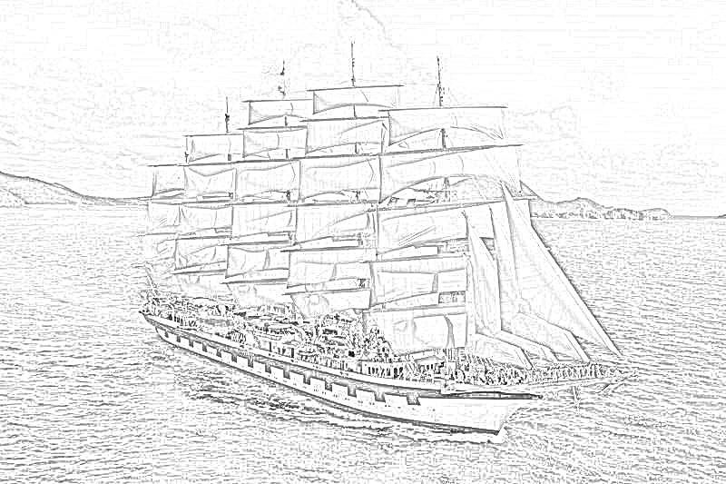 Coloring Pages: Sailing Ships Coloring Pages
