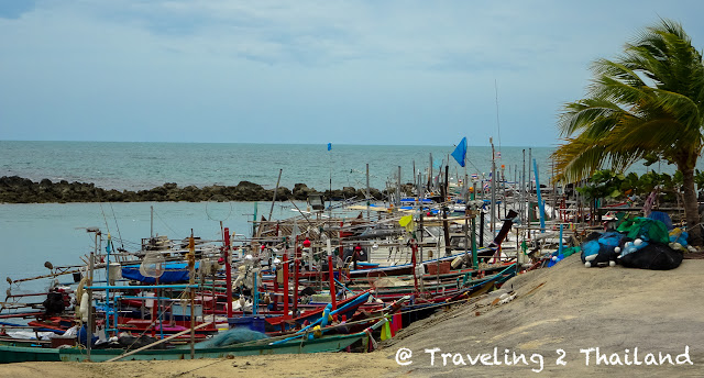 Fishing harbour on Lamai beach, Koh Samaui - Thailand